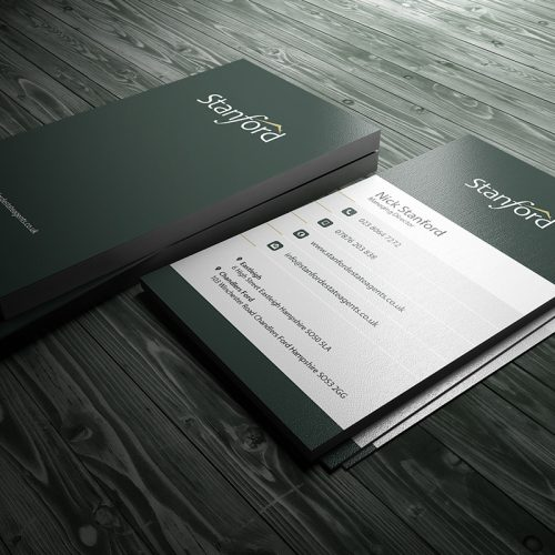 Stanford Business Card Design By Expressive Media