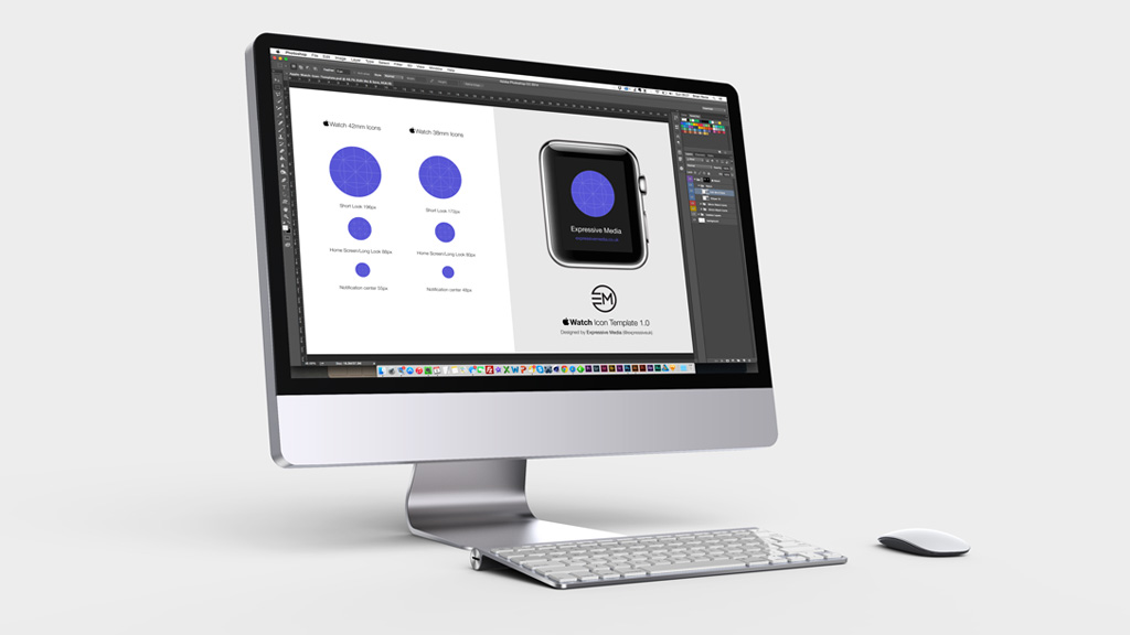 Apple Watch Icon Template Photoshop Screenshot Designed By Expressive Media