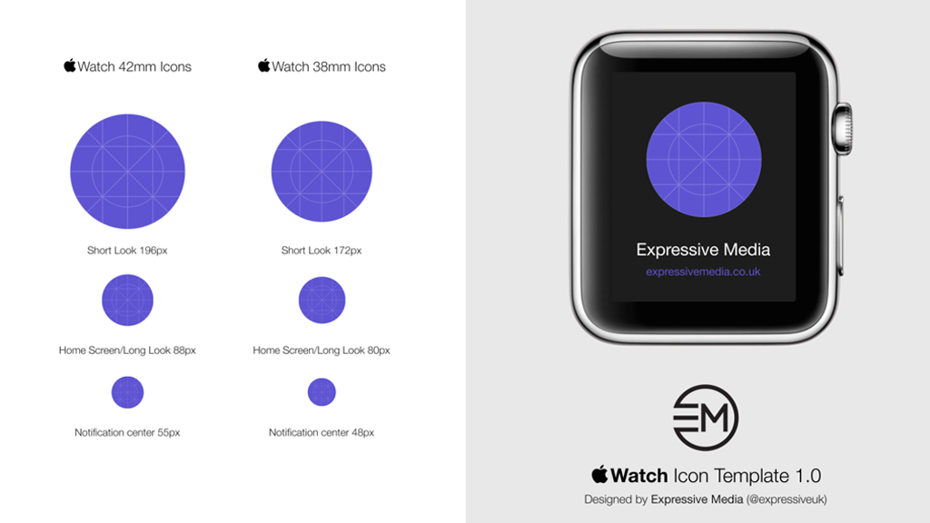 Apple Watch Icon Template 1.0 Screenshot Designed By Expressive Media