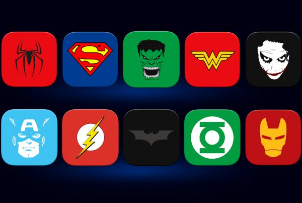 Super Hero Flat Icon collection by Expressive Media