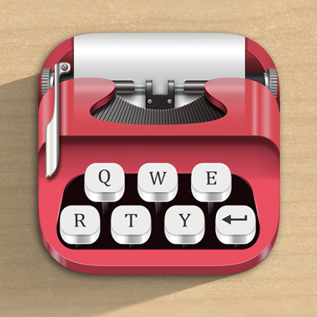Cute Typewriter Icon