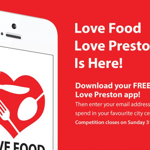 Love Food Love Preston App Showcase flyer