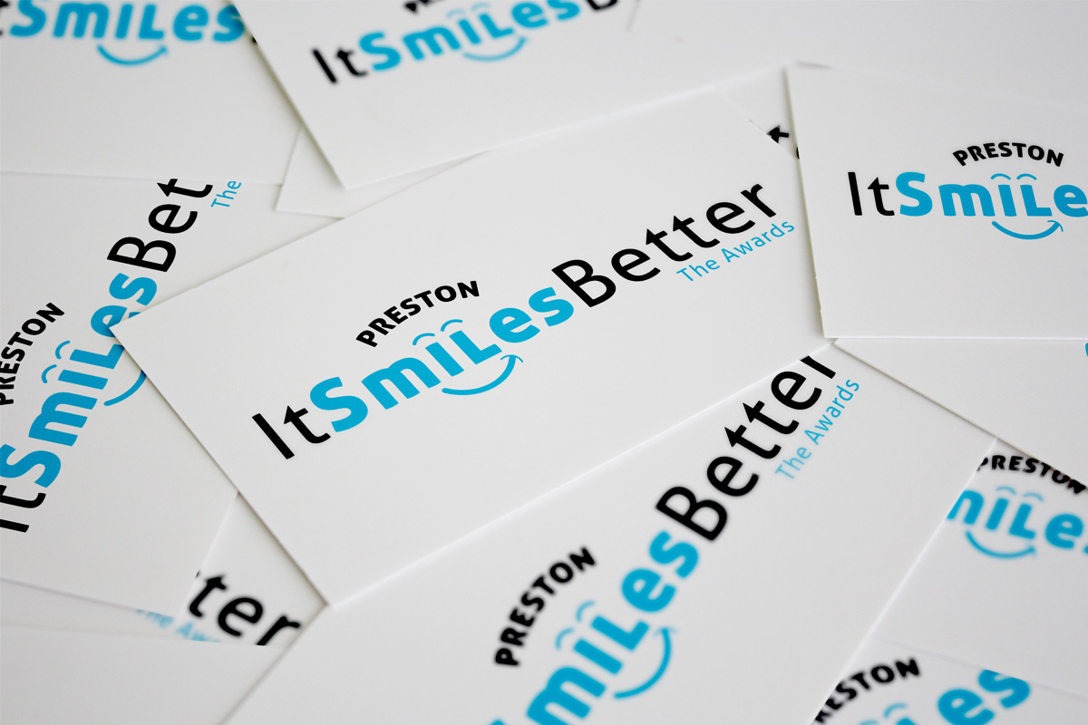 Preston it smiles better awards branding designed by Expressive Media